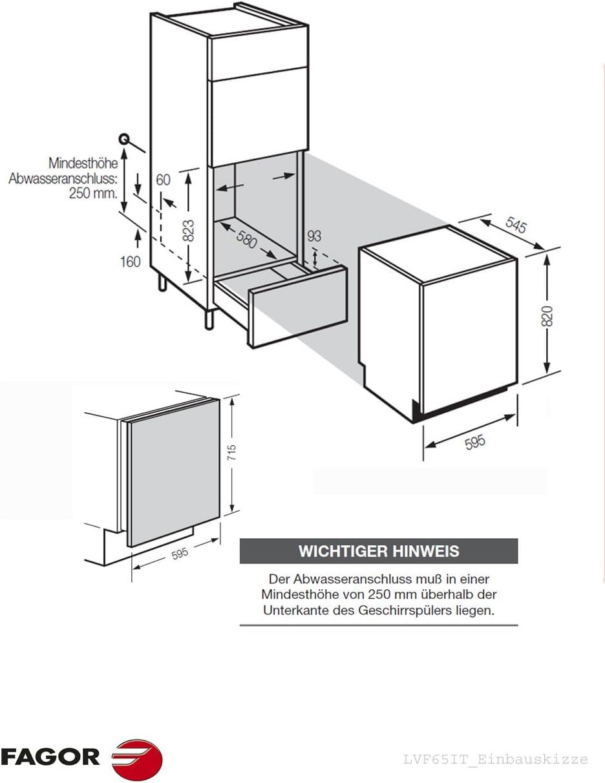 Fagor LVF65IT lavavajilla - Lavavajillas (Totalmente integrado ...