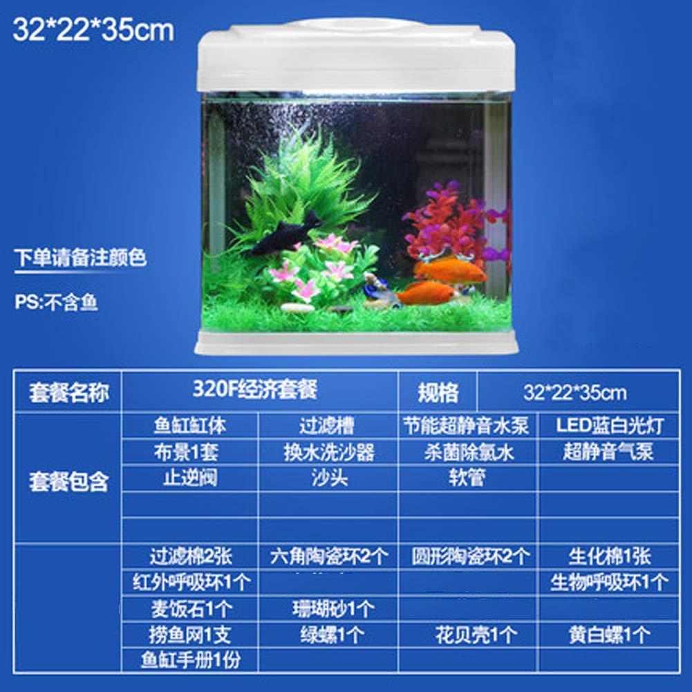 Multi-type ecological creative fish tank living room small mini glass desktop home aquarium
