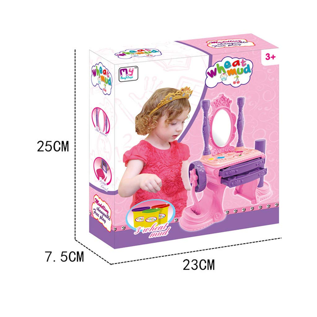 NszzJixo9 Girls Make Up Dressing Table Set , Kids Vanity Table,Glamorous Princess Dressing Table with Stool, Mirror, Hair Dryer,Best Gift for Girls by NszzJixo9 (Image #4)