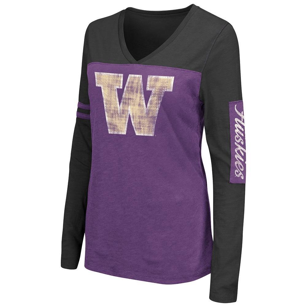 Womens NCAA Washington Huskies長袖Tシャツチームカラー B0736DSNF6 XL
