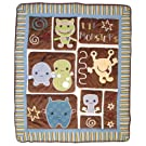 Cocalo Peek A Boo Monsters Quilt Blanket for Baby Nursery 37 x 44
