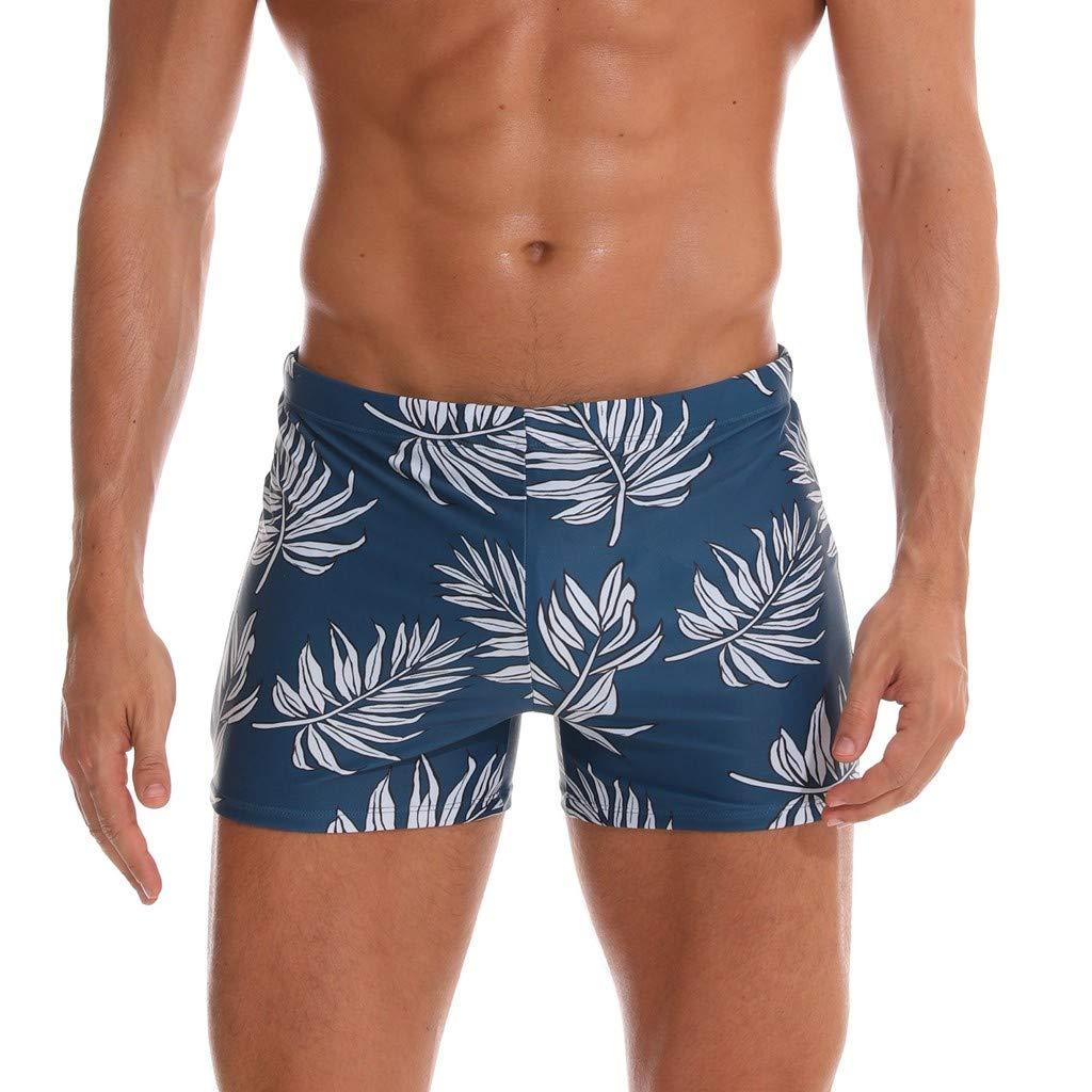 Zackate Mens Swim Trunks Square Leg Swimming Boxer Briefs Beach Shorts Swimsuits Beachwear Watershorts