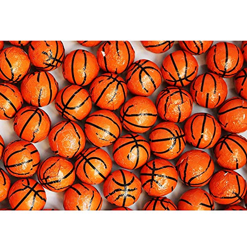 FirstChoiceCandy Chocolate Basketballs Foil Wrapped 2 Pound Resealable