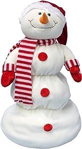 ReLIVE Up and Down Snowman - Santa Hat Snowman Christmas Decoration