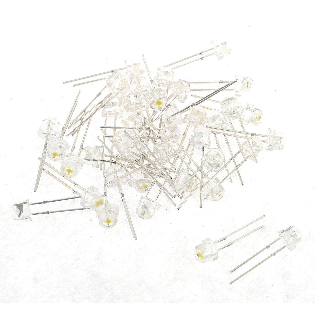 40/St/ück 6/mm Kopf Stroh hat Leuchtmittel 2/Pins DIP DC 3/V Emitting Diode LED