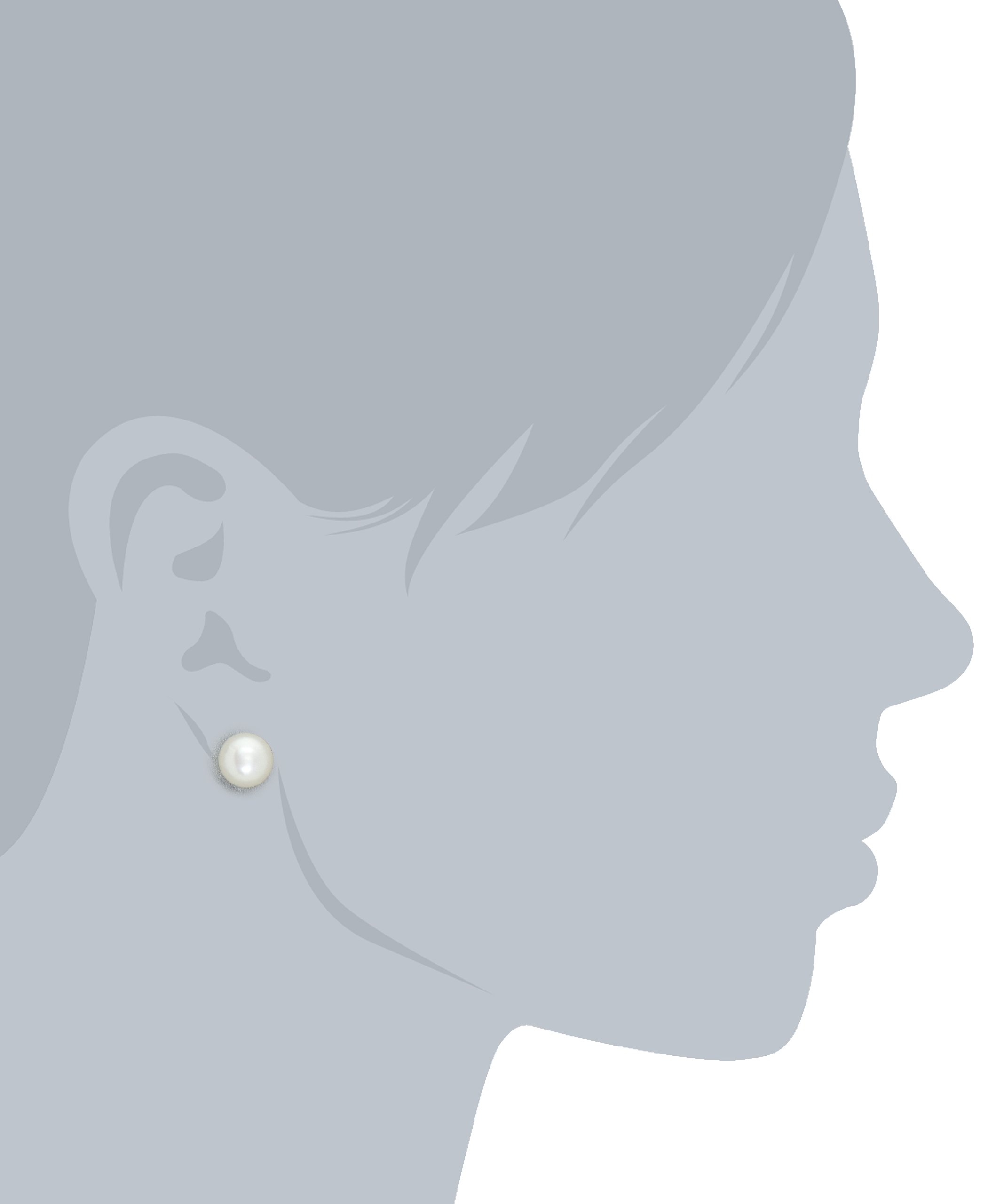 Honora White Freshwater Cultured Pearl 18'' Pendant Necklace and Stud Earrings Set by Honora (Image #5)