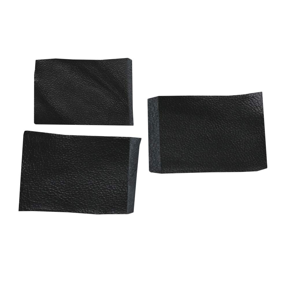 4x3cm Leather Instrument Accessories for Violin Bow Black Pack of 10