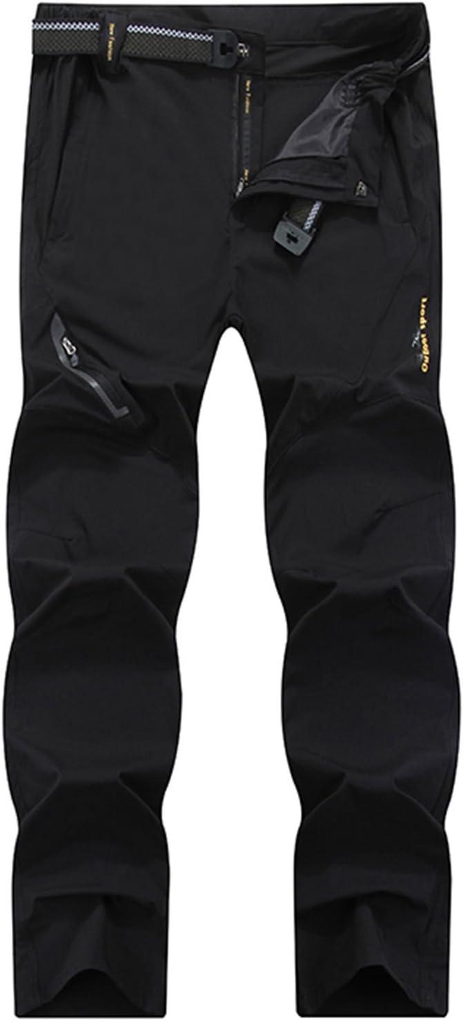 SUKUTU Pantalon de randonn/ée /élastique dext/érieur /à s/échage Rapide pour Hommes Pantalon de randonn/ée descalade l/éger et imperm/éable