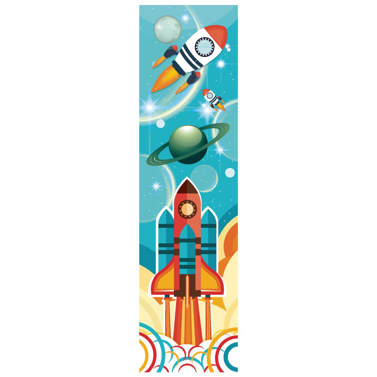 Astronaut Rocket Ship Bookmarks for Kids (24 Pack) - Space Shuttle Astronomy Design - Rocket Ship Party Supplies - School Reading Incentives, Student Prizes, Boys Party Favors