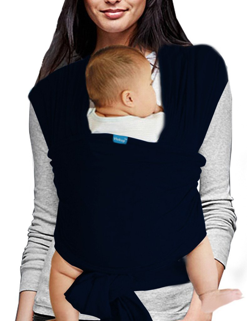 Vlokup Baby Sling Carrier Soft Infant Wrap Ideal Shower Gift Black Guangzhou Qunce Trading Co. Ltd