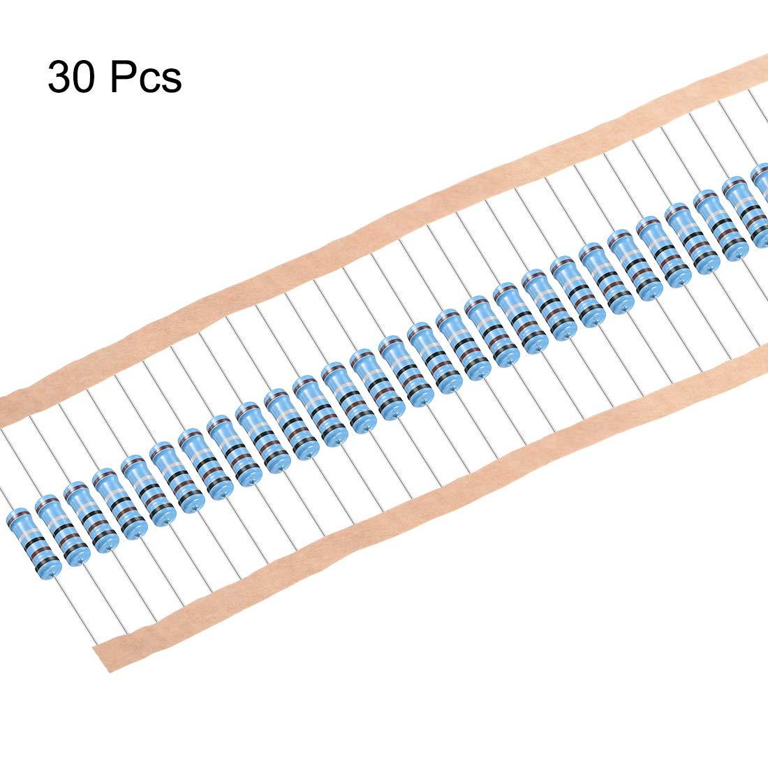 Sourcing Map 30 Stk Metall Film Widerstand 0 1 Ohm 2w 1 Toleranz 5 Farbe Band De Gewerbe Industrie Wissenschaft
