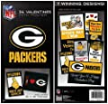 NFL Green Bay Packers Football Valentine Cards with Free 15x19 Poster