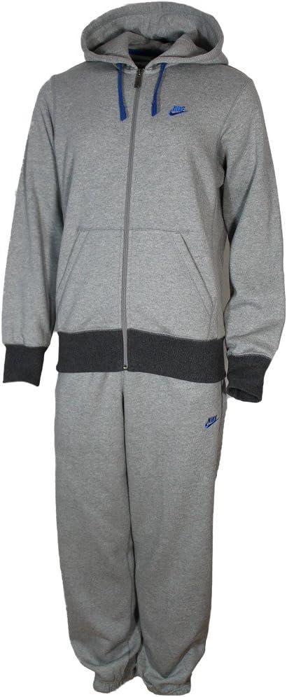 Nike - Chándal con capucha y cremallera, algodón y poliéster, color gris, hombre, color gris - gris, tamaño small: Amazon.es: Deportes y aire libre