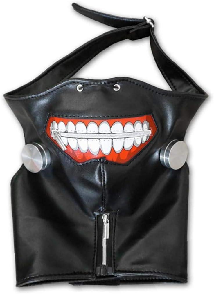 Negro M/áscara 1 Juego 3D Tokio Ghoul Kaneki Ken Cosplay con El Remiendo del Ojo M/áscara Fresca del Partido del Traje De Halloween Decoraciones del Partido Apoyos para El Hombre Y La Mujer