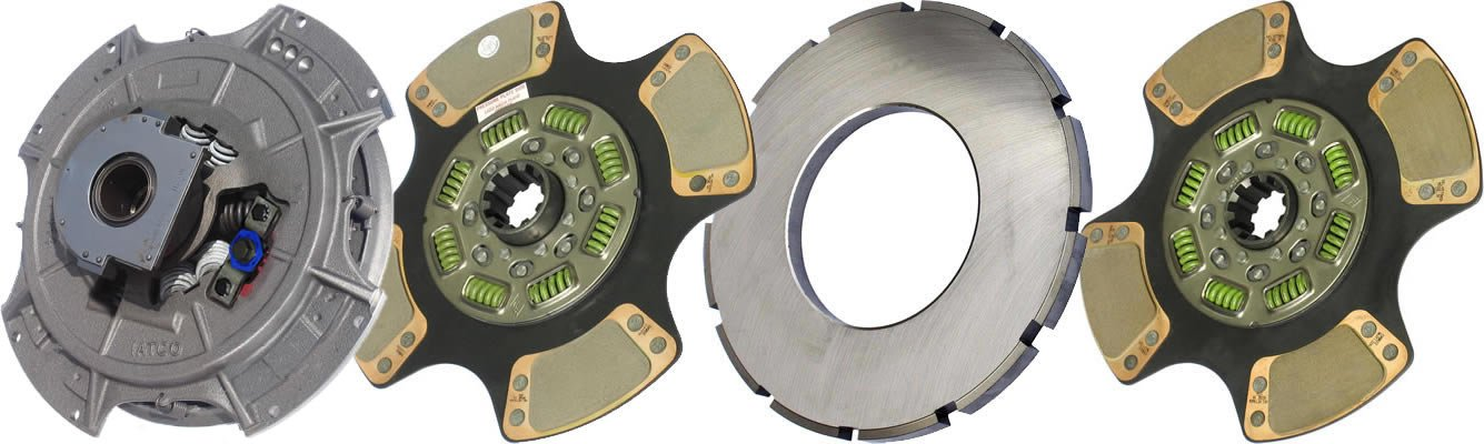 IATCO 108950-59B-IAT 14'' x 2'' Easy Pedal Clutch (Two-Plate, 4-Paddle / 8-Spring, 3200 Plate Load / 1400 Torque, Super-Duty, Dual-Zerk)