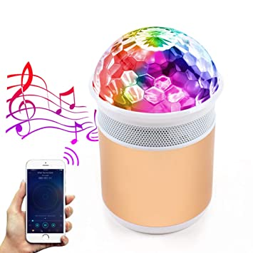Resultado de imagen de MALUX LED Luces de fiesta de bola de discoteca con altavoz Bluetooth RGB portátil Bola de discoteca luz de DJ Luces de escenario Perfecto para Bar/Inicio/Interior/Exterior/Cumpleaños/Club