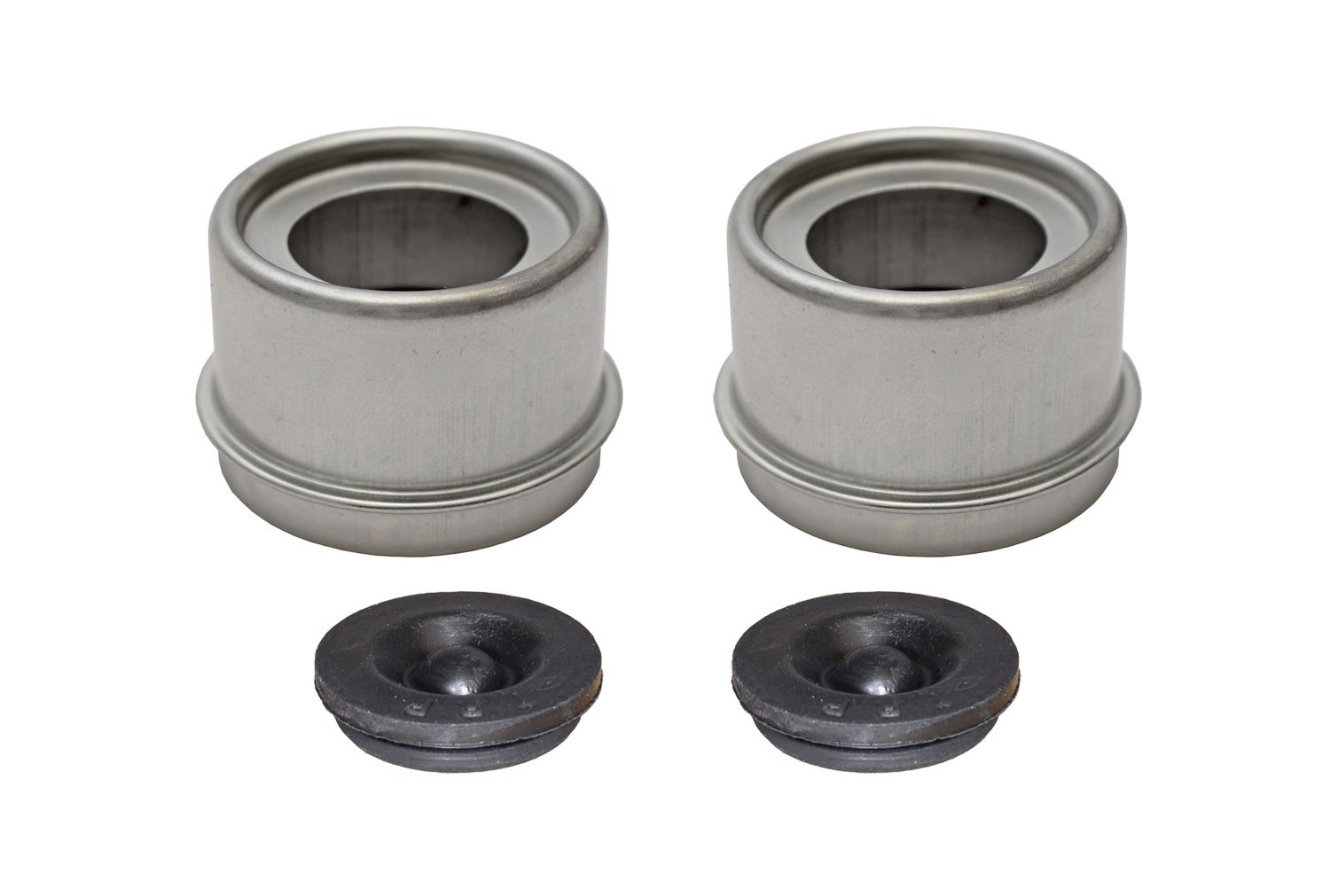 E-Z Lube Grease Caps With Rubber Plugs - Pair (EZ1-PR)