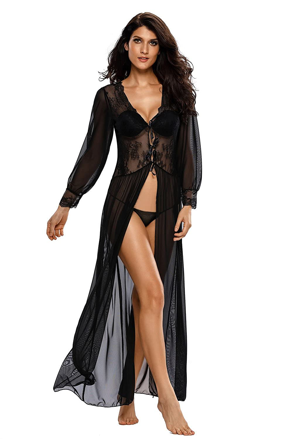 ca60aa885 This sexy robe is perfect for anniversary   valentines night cap
