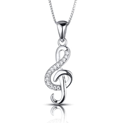 comprare on line eea71 5664d Collana Chiave di Violino Nota Argento Sterling 925 5A ...