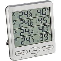Thermomètre Hygromètre sans fil TFA 30.3054 Klima-Monitor + 3 capteurs