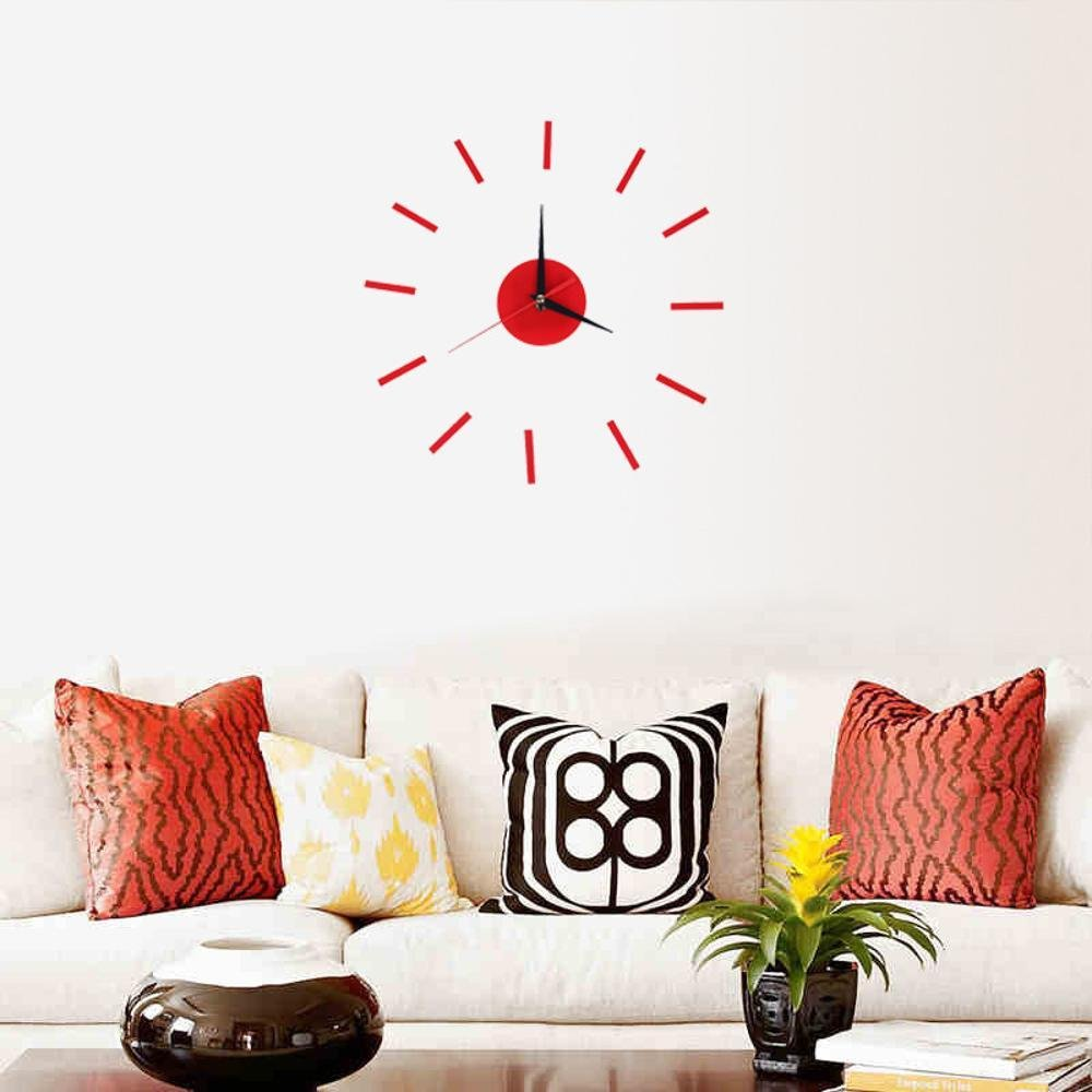 Amazon.com: MAFYU Home Accessories DIY Wall clock mirror clock modern minimalist living room bedroom wall sticker clock mute diy acrylic clock: Home & ...