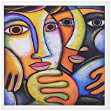 3dRose Troth couples colorful art fine art - Greeting Cards, 6 x 6 inches, set of 6 (gc_21220_1)