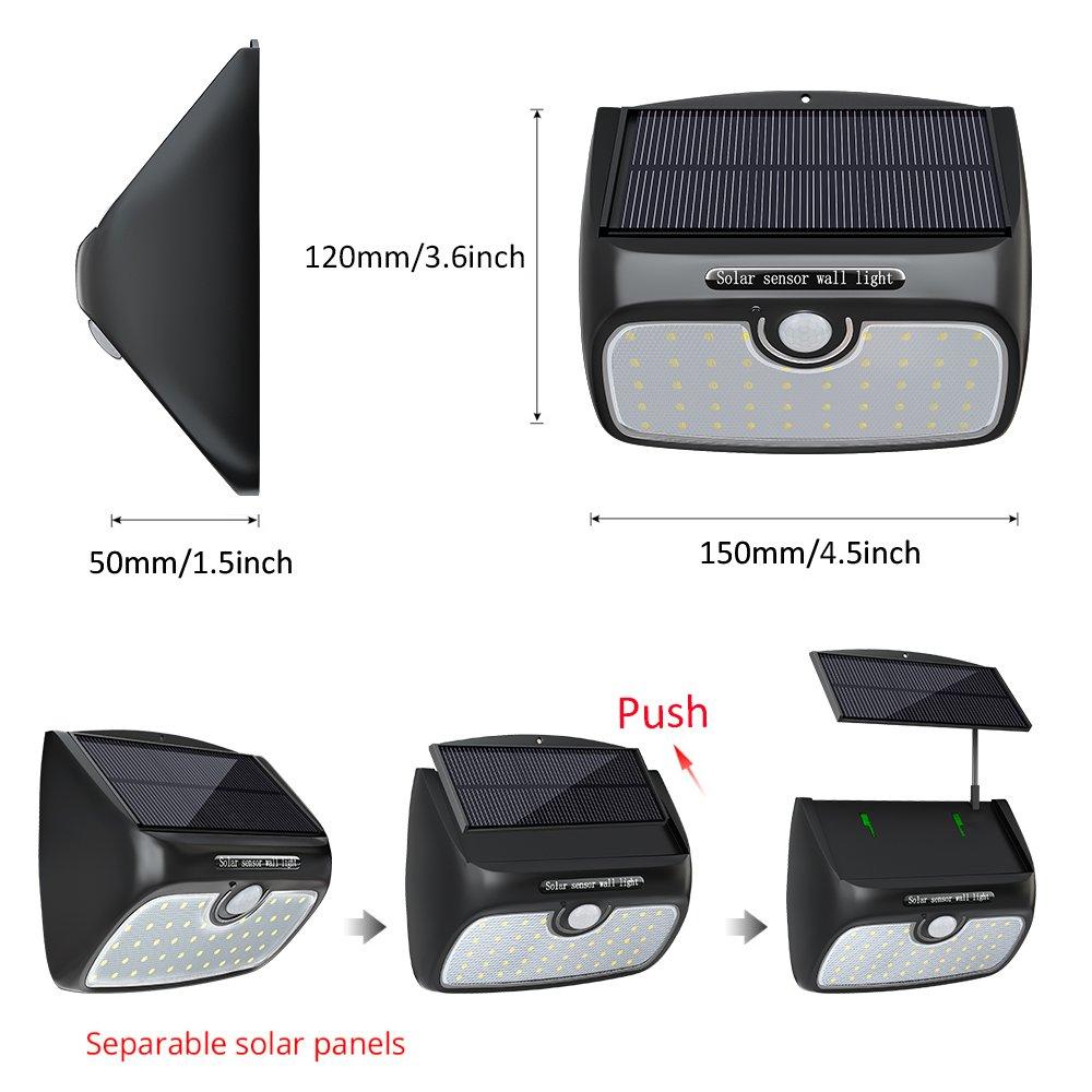 Pannello Solare Per Luce Scale : Luce solare lampada con pannello separabile