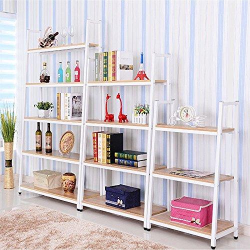 Magshion* Metal Home Decorate Bookcase 2 Colors Choose 3,4,5 Tier Shelf (White, 4 Shelf)