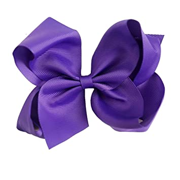 32 Pcs 6 Inch Large Grosgrain Knot Hair Bow With Clip for Girls//Toddlers