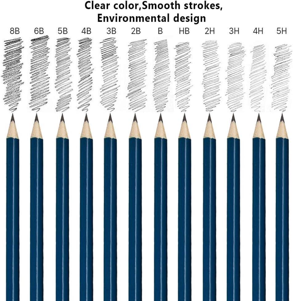 Pencil Extender Stronghigheu 51Pcs Drawing Sketching Pencils Set Artists with Zipper Case Includes Graphite Pencils Paper Erasable Pen Charcoal Pencils for Beginners /& Pro Artists Craft Knife