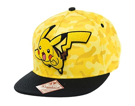 ee836b7461b Image Unavailable. Image not available for. Color  Pokemon Unisex Pikachu  Camouflage Snapback Baseball Cap