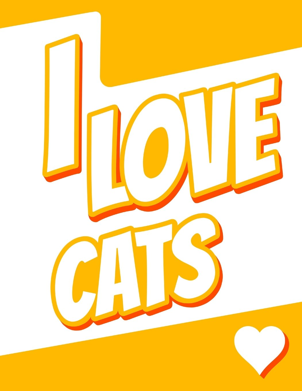 """Read Online I Love Cats: Large Print Address Book, Birthday, Christmas, Friendship Gifts for Women, Men, Seniors and Cat Lovers, 8 1/2"""" x 11"""" pdf epub"""