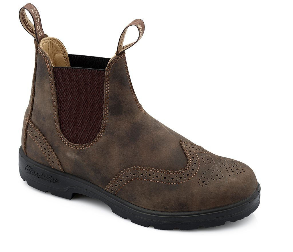 Blundstone WOMEN'S Brogue Chelsea Pull On Boot, (Wing Tip Style 1471, or 1472) (AU4.5( 7.5 US WN), 1471-Rustic Brown) by Blundstone
