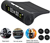 Car TPMS Tyre Pressure Monitoring System Solar Energy Wireless Auto Alarm System with LCD Color Display and 4 Sensors for Car