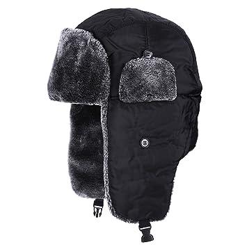 Gorros Orejeras Pasamontañas de Esquí a Prueba de Viento Sombrero de Trampero 3 Colores(Negro): Amazon.es: Deportes y aire libre