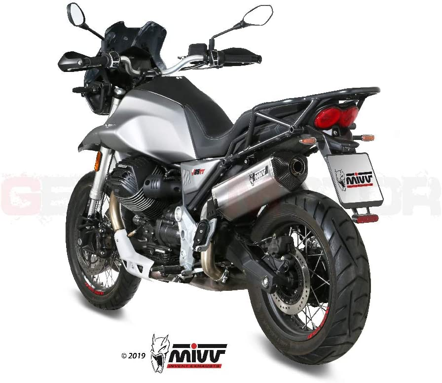 M 013 Lrx Auspuff Exhaust Mivv Speed Edge Edelstahl Kat Fur Moto Guzzi V85 Tt 2019 2020 Auto