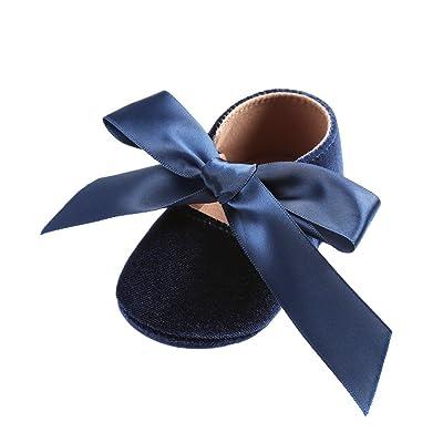 33c767ddf5315 Minuya Chaussures Bébé Fille,Semelle Souple Antidérapant Chaussures  Premiers Pas Bébé Fille Mary Jane Flats 0-18 Mois