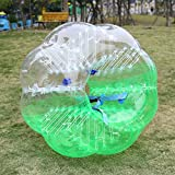 Jaketen Inflatable Bubble Soccer Ball Suit Human Bumper Zorb Knocker Balls Football for Adults and Kids Dia 5ft/4ft (1.5m/1.4m) (Green White, 5FT)