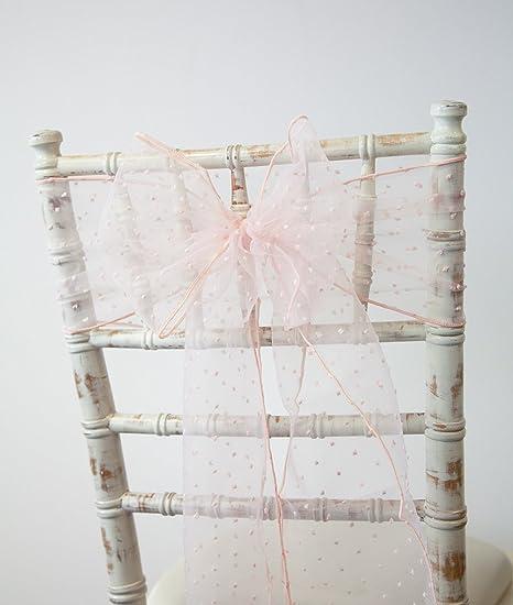 c252dd590111 Fiocco decorativo Kimmy Dot, in organza, fascia decorativa per sedie,  ideale per matrimoni
