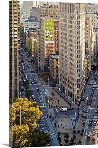J.B. Grant Premium Thick-Wrap Canvas Wall Art Print entitled New York, New York City, Flat Iron Building, 5th Avenue, - Avenue City Broadway York New