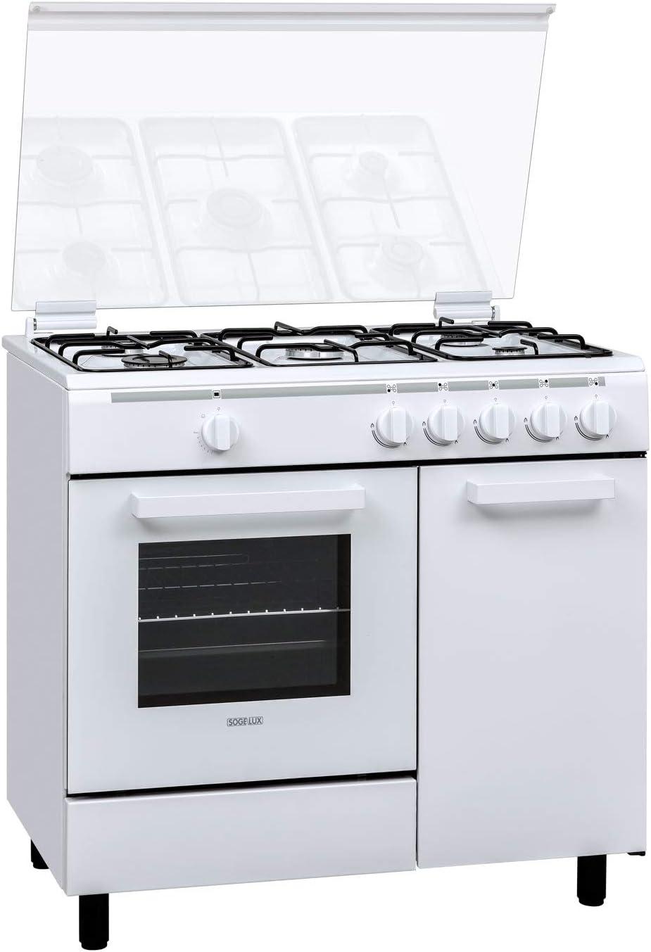 SOGELUX CG9500 - Cocina de gas butanete, color blanco: Amazon.es ...