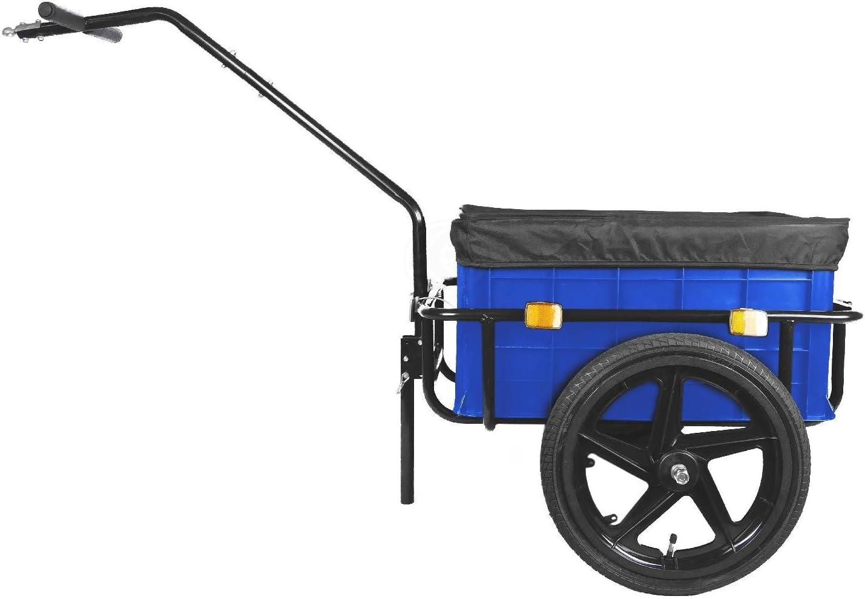 Remolque de carga para bicicleta con caja de 90L azul: Amazon.es: Electrónica