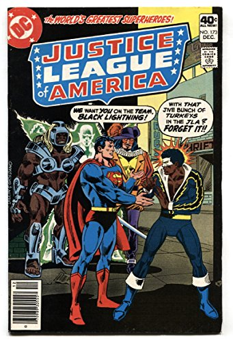 JUSTICE LEAGUE OF AMERICA #173 1979 Black Lightning joins JLA-comic book