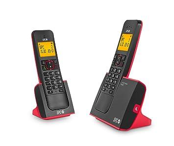 SPC Blade Duo teléfonos inalámbricos con Agenda, identificador de Llamadas, Manos Libres y luz en Pantalla