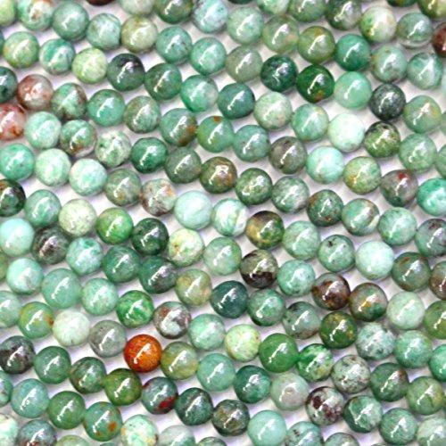 Natural Green Dragon Blood Jasper Round Gemstone Beads for Jewerly Bracelet Making - 4mm Round Beads Jasper Gemstone