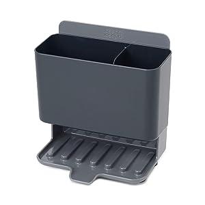 Joseph Joseph 85123 Caddy Tower Slimline Sink Caddy Kitchen Sink Organizer Sponge Holder Dishwasher-Safe, Gray