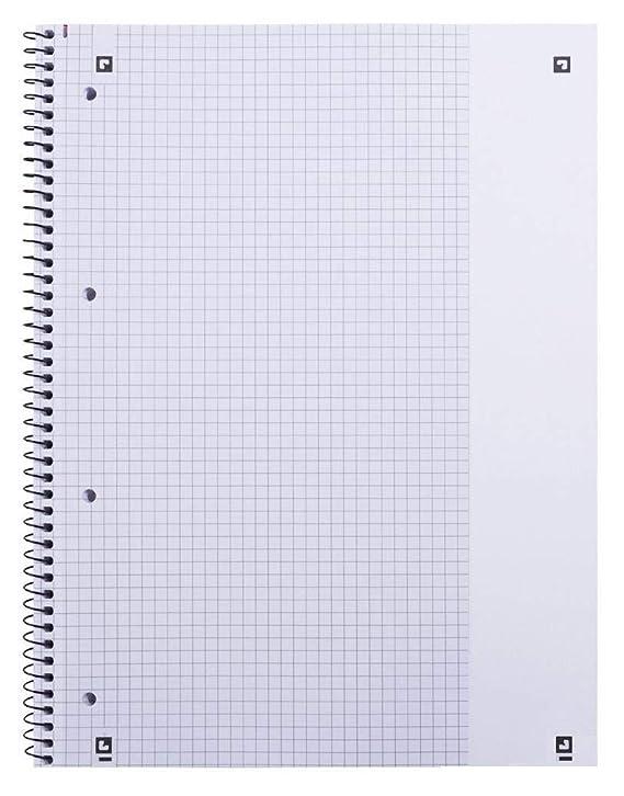 Oxford College 100050356 - Cuaderno de espiral (10 unidades, cuadriculado, 80 hojas, con margen, A4+, 90 g/m²), color amarillo: Amazon.es: Oficina y ...