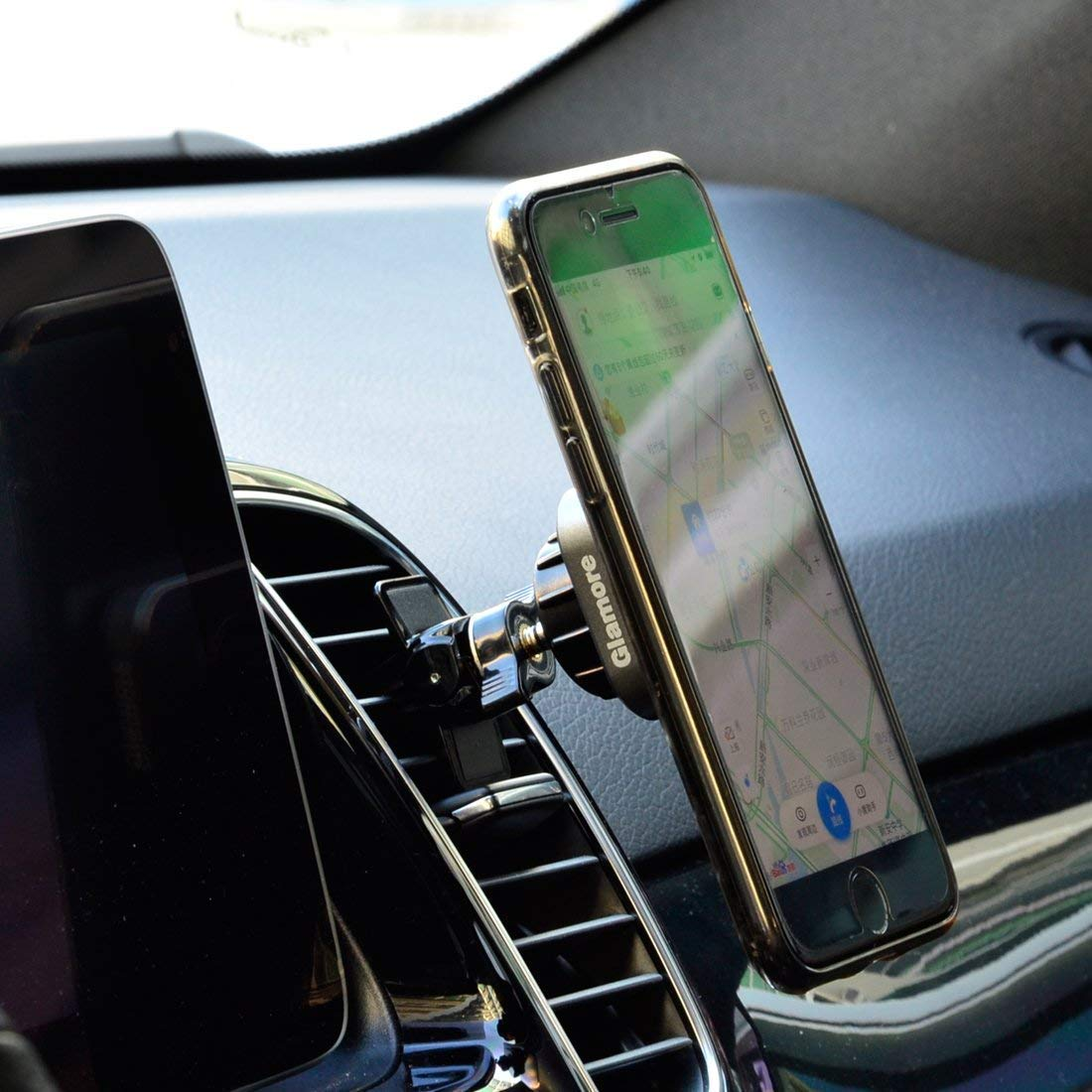 Glamore Magnetic Car Mount 360°Rotation Air Vent Car Phone Holder for iPhone X 8 Plus 7 6s SE Samsung Galaxy S5/S6/S7/S8 & other Smartphone