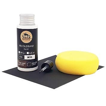 Kit de retoque de pintura Cuero/Simil Cuero/Vinilo – 12 COLORES propuestos – Mantenimiento para Asiento y Volante de Coches, Sofás, Zapatos, Chaquetas ...