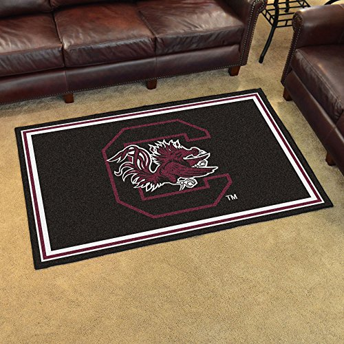 FANMATS NCAA University of South Carolina Gamecocks Nylon Face 4X6 Plush Rug by Fanmats